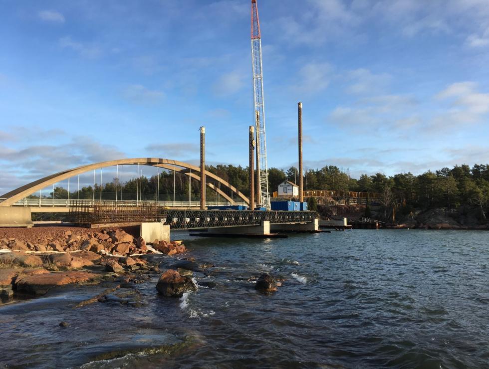 Tillfällig bro Bomarsund